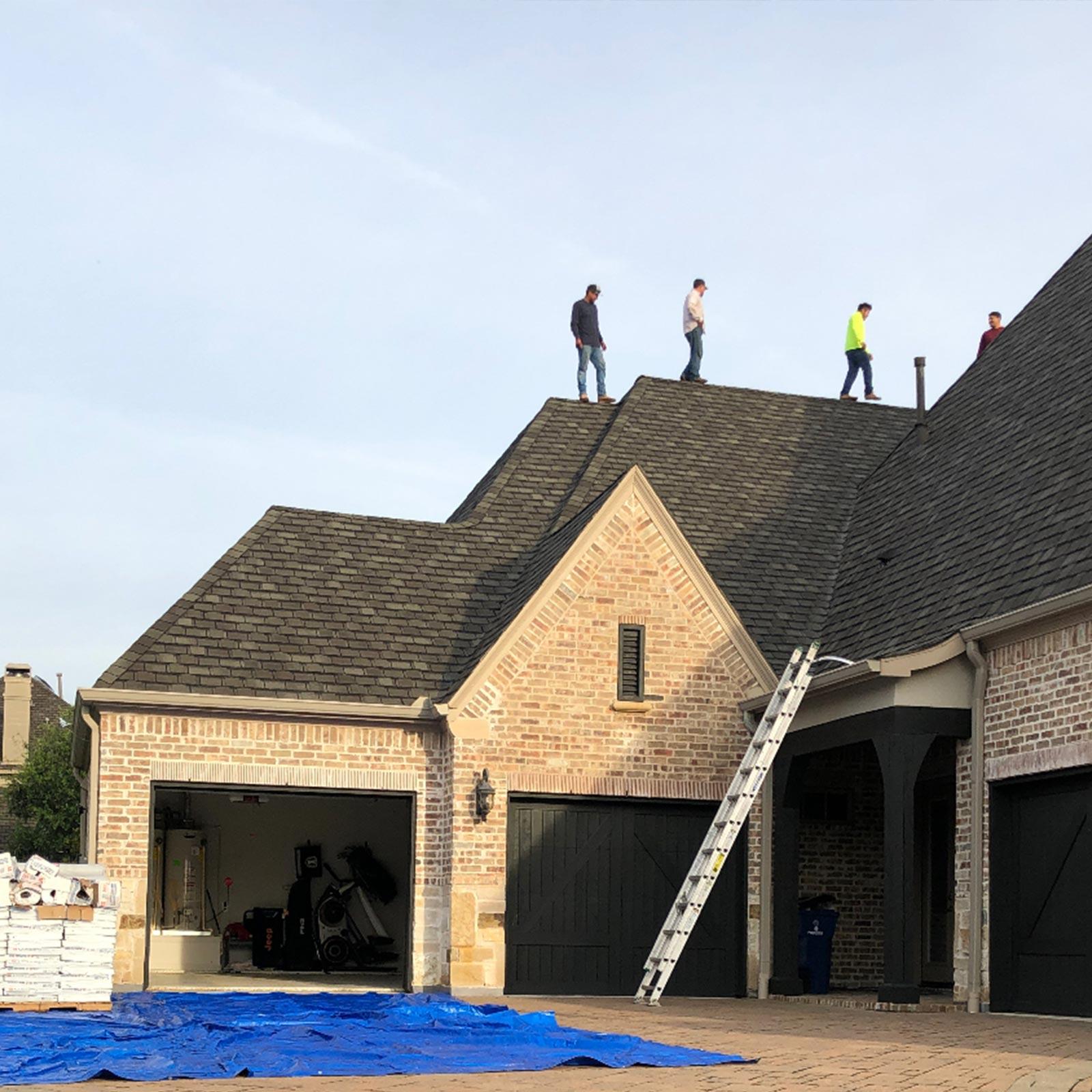 high end roof repair to website